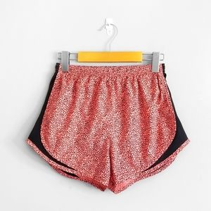NIKE Coral Pink Patterned Athletic Shorts